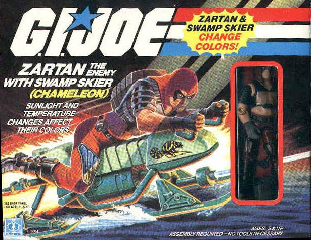 Gi Joe part CHAMELEON SWAMP SKIER 1984 TRAILER CONTAINER BOX